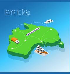 Map australia isometric concept vector