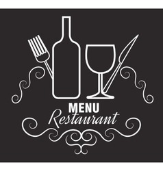 menu restaurent food icon vector image