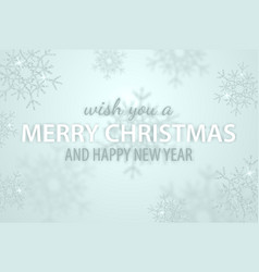 merry christmas and new year typographical on vector image