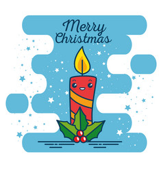 merry christmas kawaii concept vector image