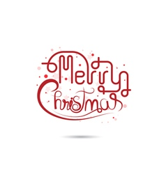 Merry Christmas lettering icon vector