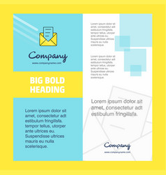 message company brochure title page design vector image