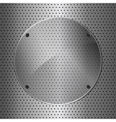 metal and glass circle vector image