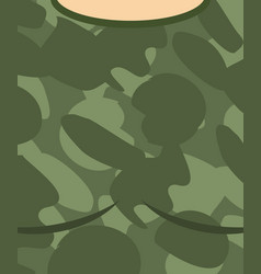 Military torso soldier chest army clothes vector