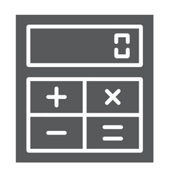 online calculator glyph icon finance and banking vector image