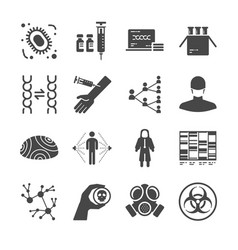 Pandemic and outbreak plague icons set vector