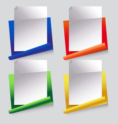 paper set of icons vector image