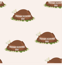 pattern roast turkey for thanksgiving day vector image