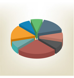 pie chart isometric vector image