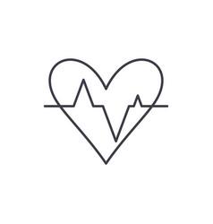 pulse line icon concept pulse linear vector image
