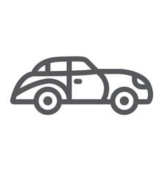 retro car line icon vintage and automobile old vector image