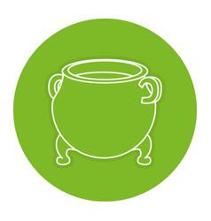Saint patrick cauldron icon vector