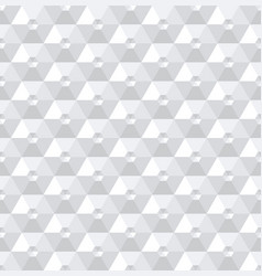Seamless 3d hexagons pattern vector
