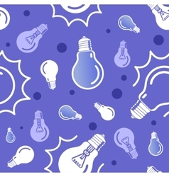 seamless blue lamp pattern Eps10 vector image
