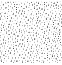 seamless pattern with raindrops vector image