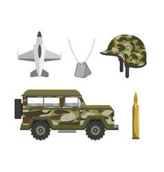 Set patriotic militar army forces vector