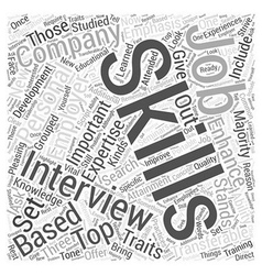 skills emphasis job interview dlvy nicheblowercom vector image