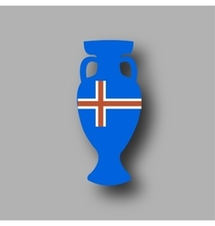 sport competition cup Iceland participant vector image