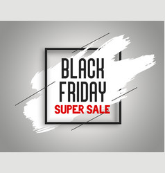 stylish black friday sale banner with ink splash vector image