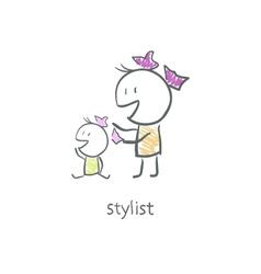 Stylist vector