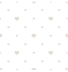 subtle seamless pattern with small hearts white vector image