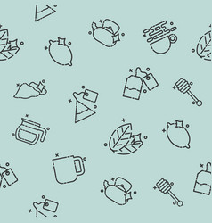 Tea concept icons pattern vector