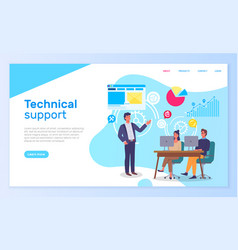 Technical support office people interact vector