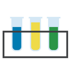 test tubes with colorful solutions in a vector image