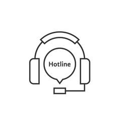 thin line headphone like hotline vector image