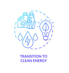 Transition to clean energy concept icon vector
