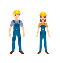 two young workers vector image