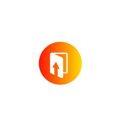 Upload file data technology logo vector