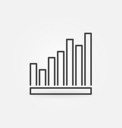 vertical bar chart concept icon in thin vector image