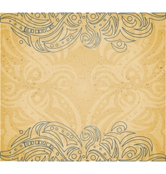 Vintage background with ornament vector image