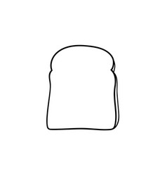 Whole wheat toast bread hand drawn sketch icon vector