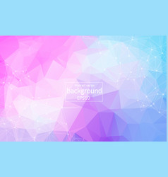 wireframe polygonal background polygonal vector image