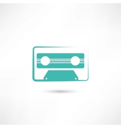 audio tape icon vector image vector image