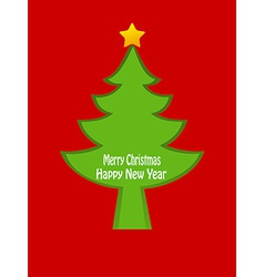 Christmas tree card design vector image vector image