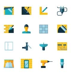 Home Repair Icons Flat vector image