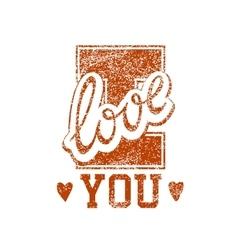 Love Grunge Stamp vector image