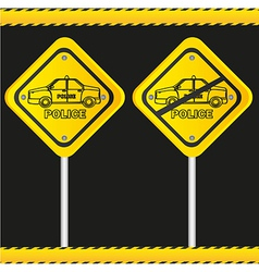 traffic sign isolated on black background vector image vector image