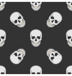 seamless retro pattern skull vector image