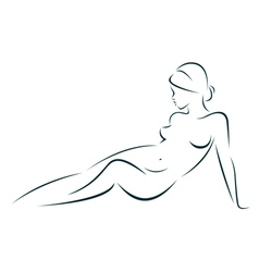 Beauty of the female body vector image vector image