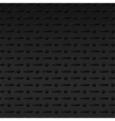 black perforated metal background vector image vector image