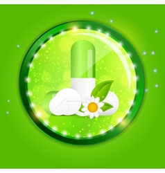 Herbal pill Environment background vector image vector image
