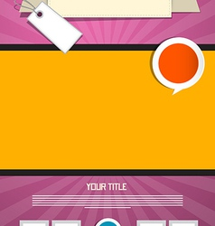 Pink and Orange Leaflet or Poster Retro Template vector image vector image