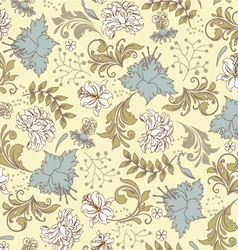 seamless pattern with floral ornament vector image vector image