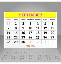 September vector image vector image
