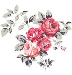 Vintage pink roses vector