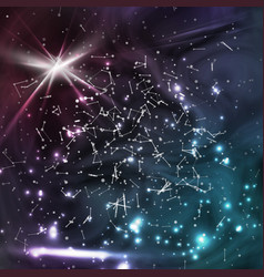 Cosmic constellations modern background vector